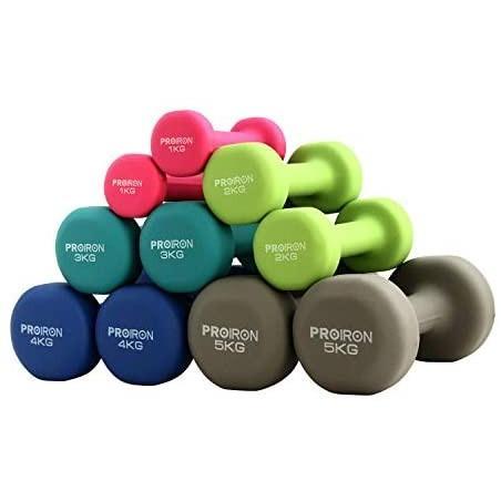 PROIRON ダンベル「2個セット1kg/2kg/3kg/4kg/5kg/8kg/10kg」ダンベルセット (3kgx 2 3KG) shining-store