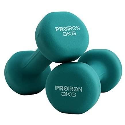 PROIRON ダンベル「2個セット1kg/2kg/3kg/4kg/5kg/8kg/10kg」ダンベルセット (3kgx 2 3KG) shining-store 02