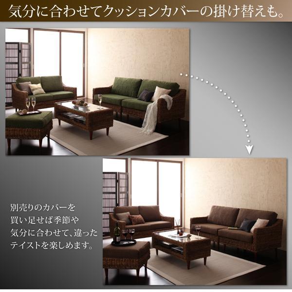 ホテルやサロン、オフィスにも 高級リラクシングアバカソファ Kurabi クラビ ソファ2点&テーブル 3点セット 1P+3P|shiningstore-next|13