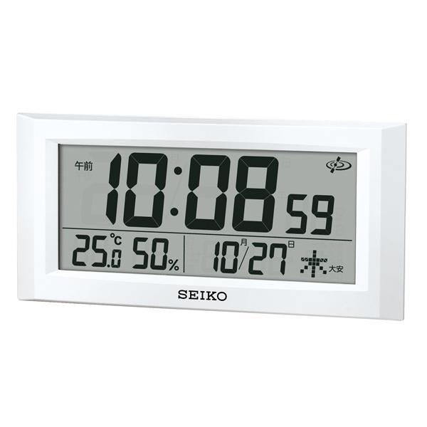 セイコー SEIKO スペースリンク 置き時計 GP502W ホワイト ホワイト