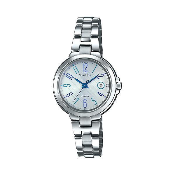【初回限定お試し価格】 カシオ CASIO 腕時計 レディース SHW-5100D-7AJF SHEEN クォーツ シルバー国内正規, カワゴエチョウ 7c9a4a98