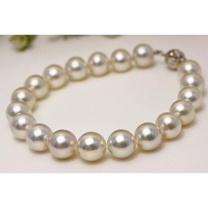 愛用  真珠 ブレスレット アコヤパール 9.0-10.0mm ホワイトピンクグリーンカラー, 高岡町 6a05f1b4