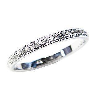 【時間指定不可】 フルエタニティーリング ダイヤモンド K18 ピンキーリング ホワイトゴールド 結婚指輪 ピンキーリング K18 カジュアル カジュアル, 八幡西区:0f3a8e9b --- airmodconsu.dominiotemporario.com