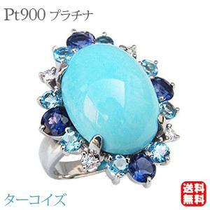 見事な ターコイズリング トルコ石リング ダイヤモンド 0.13ct アイオライト ブルートパーズ 指輪 ホワイトゴールド, twopedal-ツーペダル- a910a1fd