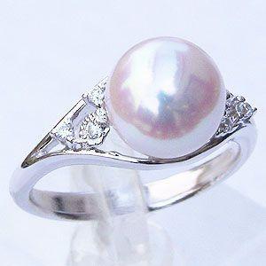 人気の リング パール 指輪 あこや真珠パールリング 18金 K18ホワイトゴールド ダイヤモンド 冠婚葬祭 普段使い, 仏事のギャラリー 0e11bbd9