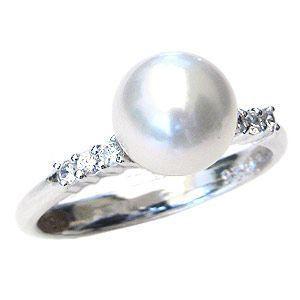 見事な 指輪 ブライダル リング リング パール 指輪 あこや真珠パールリング K10ホワイトゴールド ダイヤモンド 普段使い 冠婚葬祭 普段使い, イチシチョウ:6f40202e --- airmodconsu.dominiotemporario.com
