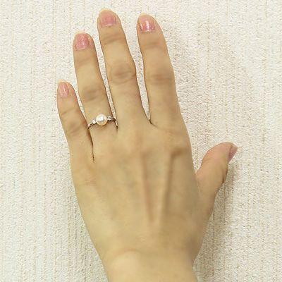 パール リング 普段使い パールリング 真珠 リング  パール 指輪 プラチナ pt900 ダイヤモンド 本真珠 あこや 7mm 冠婚葬祭 送料無料 レディース shinjunomori 04