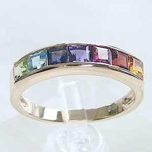 大勧め アミュレット リング 七色 K18PG ピンクゴールド 指輪 パワーストーン カジュアル, agog 52c7a1d6