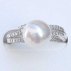 多様な リング パール 指輪 あこや真珠パールリング K10WGホワイトゴールド ダイヤモンド ジュエリー 冠婚葬祭 普段使い, Brand Selection STAGE d952a8ff
