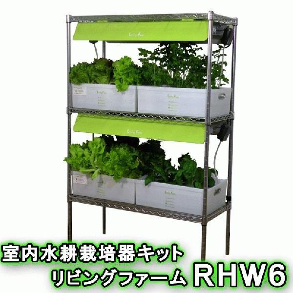 送料無料(沖縄·離島を除く)リビングファーム LF-RHWL6 室内水耕栽培器キット リビングファームRHW6メーカー直送代引き/同梱包不可