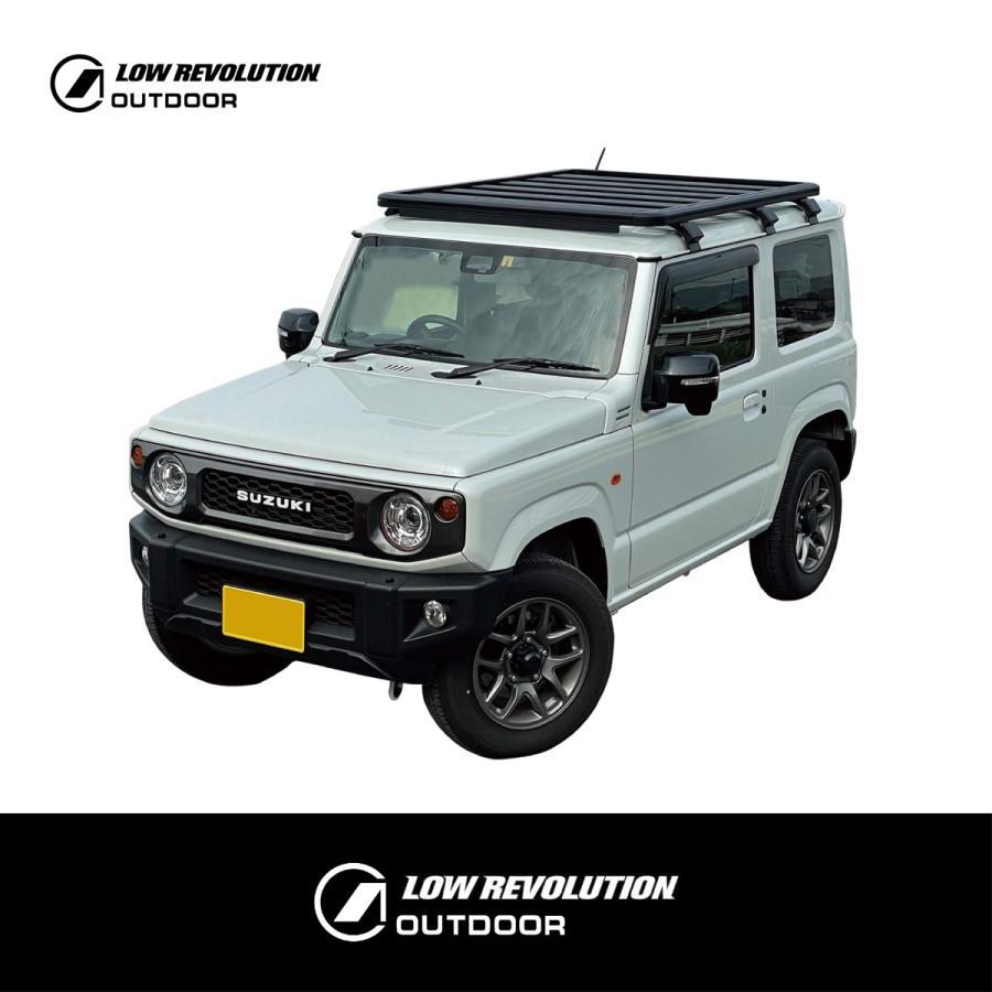 LOW REVOLUTION OUTDOOR スズキ 新型 ジムニー JB64 ジムニーシエラ JB74 アルミ製 ルーフラック ルーフキャリア 超低型 専用設計 shinsentek 02
