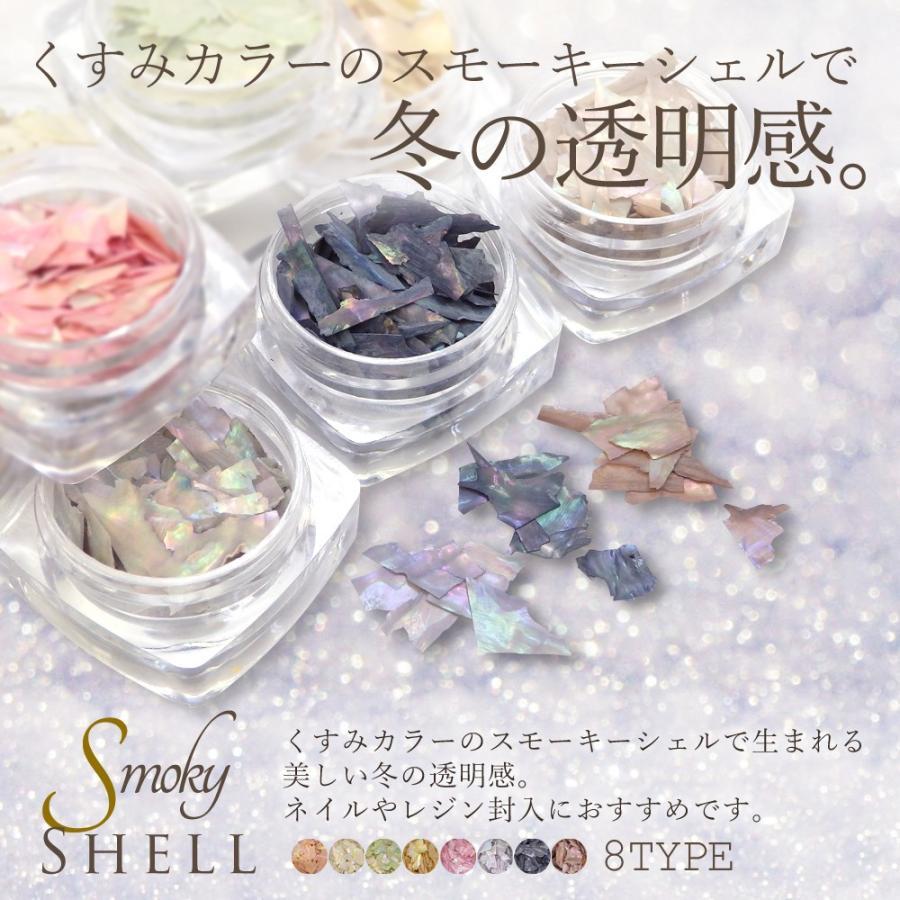 スモーキーシェル 8種 ジェルネイル マニキュア ネイルツール shinwa-corp 02