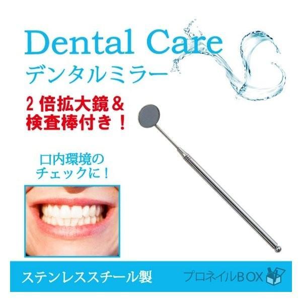 ステンレス製デンタルミラー 2倍拡大鏡 検査棒付き 歯鏡  虫歯予防 歯槽膿漏 歯石 ヤニ 取り用 高耐久性 医療機器|shinwa-corp