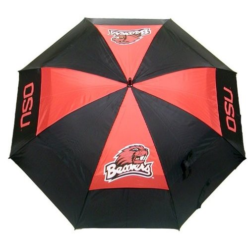 Team Golf 27469 Oregon State University 62 in. Double Canopy Umbrella