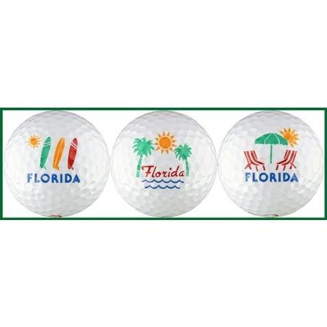 フロリダW/サーフボード柄、Palms &椅子ゴルフボールギフトセット