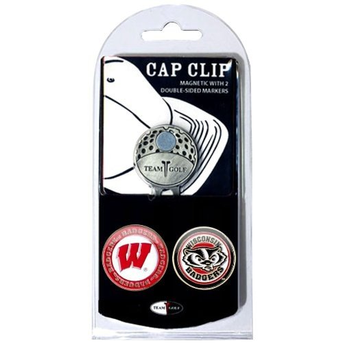 Team Golf 23947 Wisconsin Badgers Golf Ball Marker Hat Clip