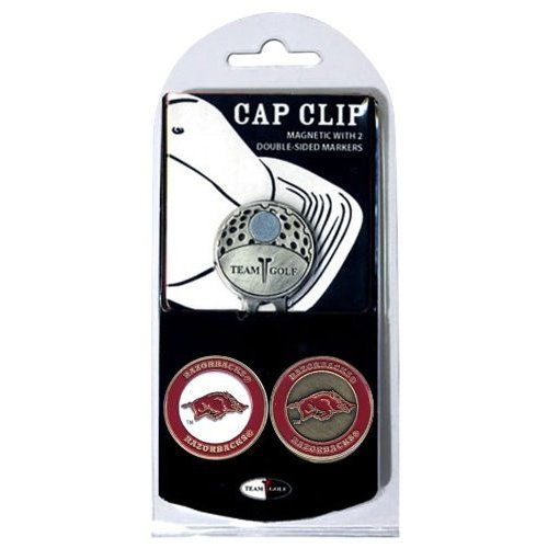 Team Golf 20447 University of Arkansas Golf Ball Marker Hat Clip