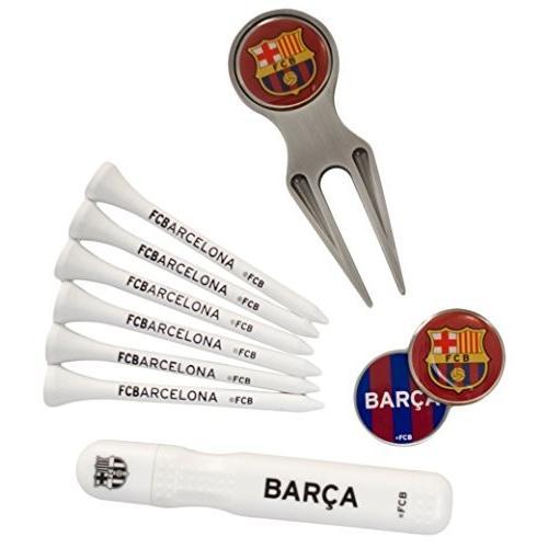 FC Barcelona バルセロナ エグゼクティブ ゴルフ ギフトセット/グリーンフォーク マーカー マーカーペン ティー