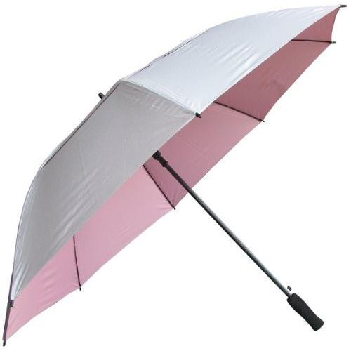 RainStoppers 62-inchシルバーコーティングWindbuster傘ゴルフ傘