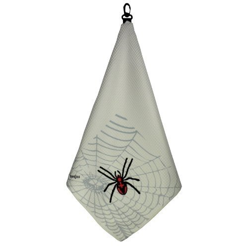 """""""SPIDER"""" Print Microfiber Tri-Fold Golf Towel Featuring Waffle Texture by"""