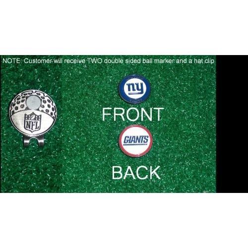 ニューヨーク・ジャイアンツNFL帽子クリップW / 2つ両面ボールマーカー