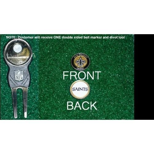 New Orleans Saints nfl Divot Tool w / 3つ両面ボールMar