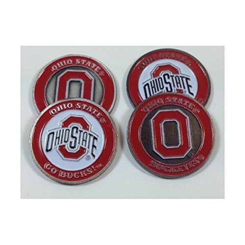 The Ohio State University Buckeyes Golf Ball Markers ( 4*)