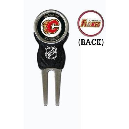 チームゴルフCalgary Flames Divot Tool Pack***署名ツールW / 1*ma