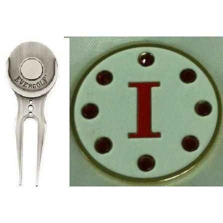 【最安値挑戦!】 クリスタル文字ホワイトIゴルフボールマーカーW/ Divot Tool Tool, モデルノ:87a90994 --- airmodconsu.dominiotemporario.com