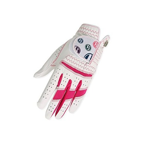 (Medium, Worn On Right Hand, Hot ピンク) - HJ Glove Women's Daisy Golf Glove