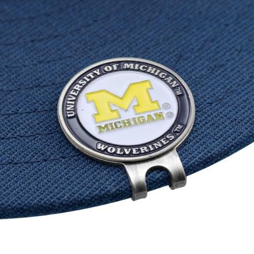 Michigan Wolverinesゴルフボールマーカー&クリップセットbyチームゴルフ