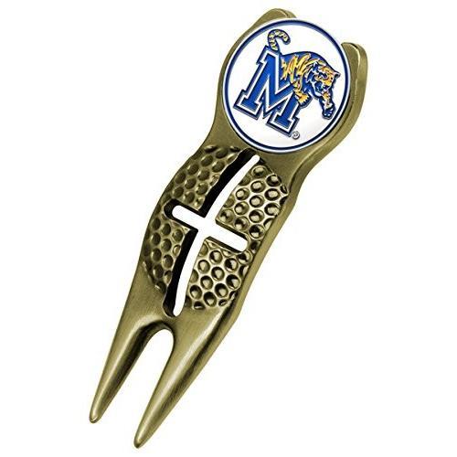 Memphis Tigers ゴールド Crosshair Divot Tool