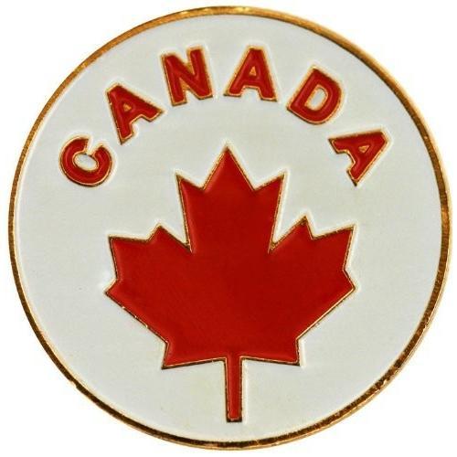 カナダゴルフボールマーカーwith Matchingハットクリップ