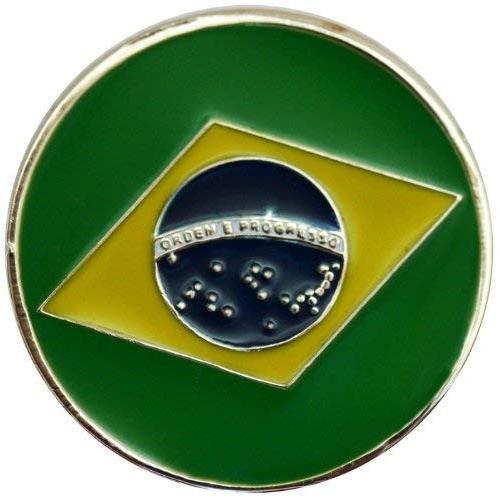 【超目玉枠】 ブラジル国旗ゴルフボールマーカーwith Matchingハットクリップ, fuzzy:27cb8ffc --- airmodconsu.dominiotemporario.com
