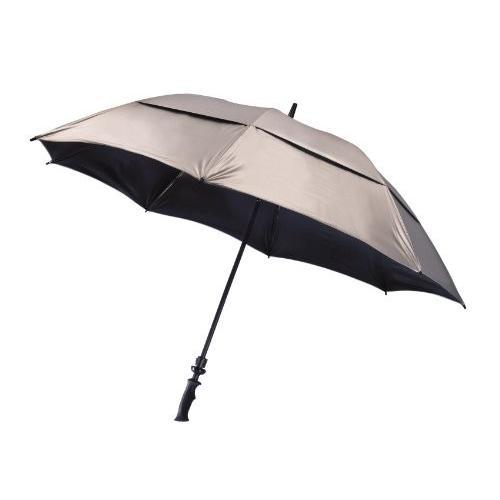 Bag Boy UV Wind Vent Golf Umbrella, 銀