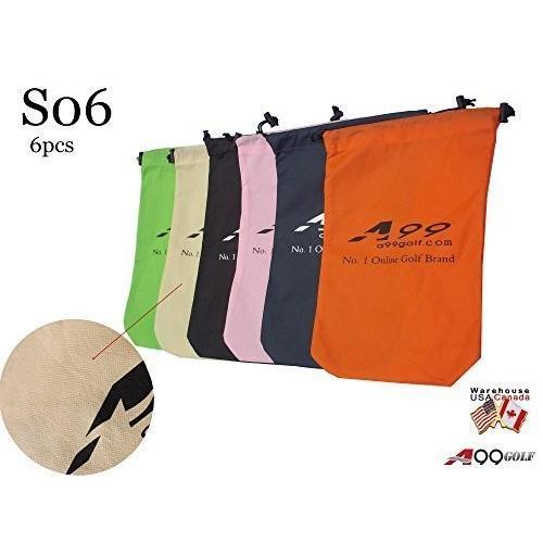 6pcs s06*a99ゴルフ旅行カバー靴バッグストレージバッグwith Drawstring forゴルフバッグクラブボール