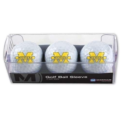 Michigan Wolverinesゴルフボール***3パック