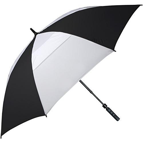。黒と白 - ゴルフ傘でFJWestcott 8302T風ベント伸縮オートオープン62