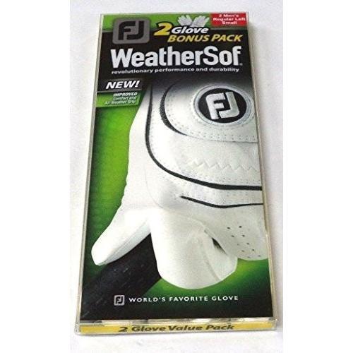 2新しいFootjoy WeatherSofメンズゴルフグローブ左側スモールのRH Golfer