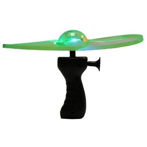 9.75インチライトUp Flying Saucer with Hand Launcher (選択肢の色