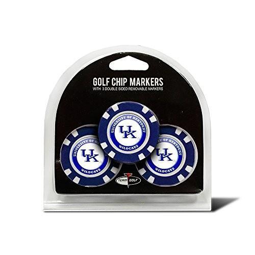 Kentucky Wildcats公式NCAA 3パックゴルフボールマーカーbyチームゴルフ219886