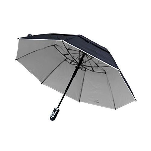 ブラックAspen 46-inchソロ風耐性傘グラスファイバー骨 ブラック