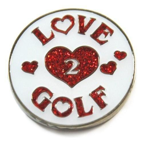 Navika Love 2 Golf Glitzy Ball Marker with Hat Clip [並行輸入品]