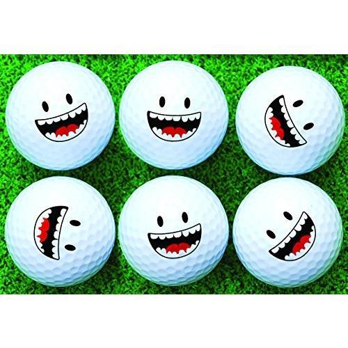 Smile Face 6*x Printedゴルフボール