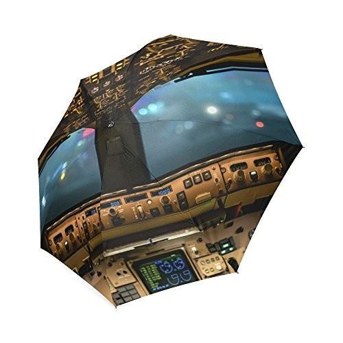 Friendsノベルティ誕生日ギフトPresents飛行機航空機コックピットCockpit 100*%生地とアルミニウム高品質折りたたみ式傘