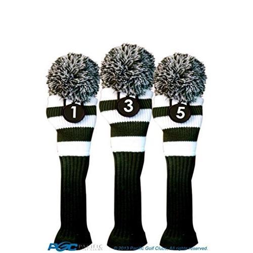 Majekゴルフクラブ1*3*5ホワイトとグリーンLimited EditionドライバーとフェアウェイウッドヘッドカバーFits