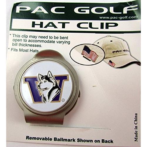 【同梱不可】 PacゴルフHatclip W/ Ballmarkボールmarkballmarker Washington NCAA NCAA/ Washington Huskiesホワイト, 癒す堂:486bceb6 --- airmodconsu.dominiotemporario.com