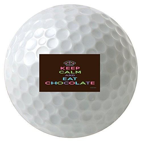 Keep Calm and Eat Chocolate Cupcake 3*- Pack Printedゴルフボール