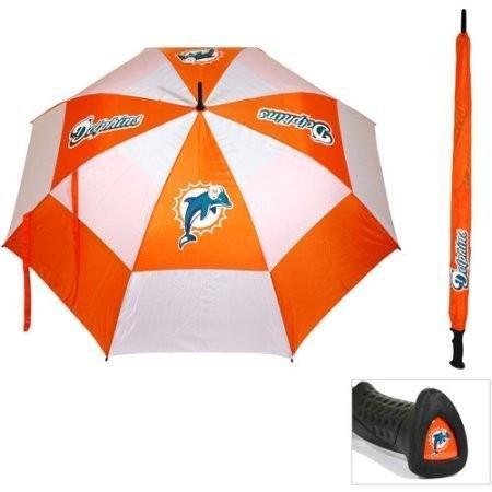 Miami Dolphins 62インチダブルキャノピー傘、NFL、従来のロゴ