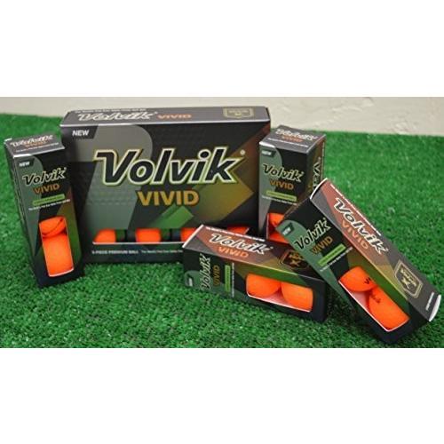 4ダースVolvik Vividマットオレンジゴルフボール***新しいinボックス